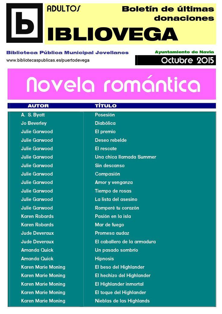 Novedades novela romántica oct 2015