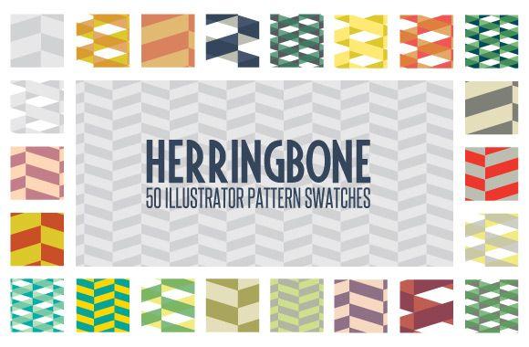 50 Illustrator Herringbone Pattern Swatches