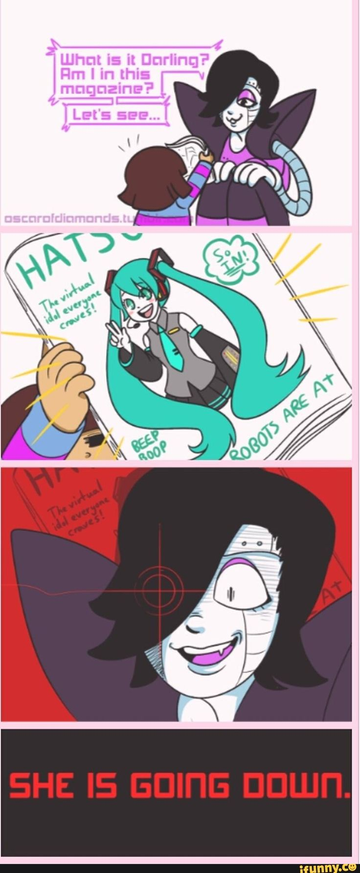 METTATON NOOO!!!!! DON'T HURT MIKU!!!!!! DX SHE EVERYBODY FAVORITE NON REAL SINGER!!!!