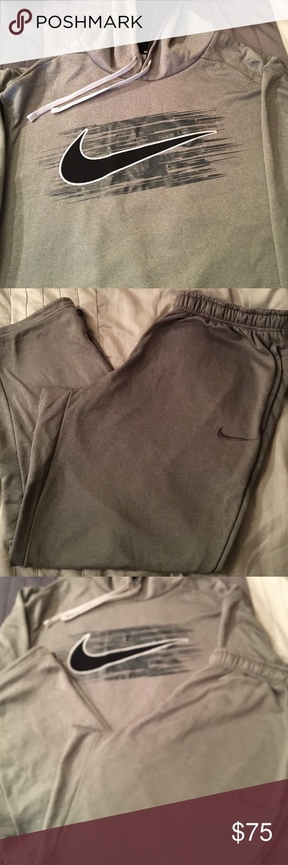 Men's Nike Sweatsuit Bundle Grey, Black and White! XXL Men's hoodie and pants. Only wore once! Sold as a set Nike Other