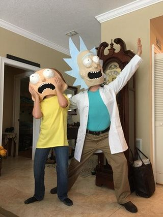 Rick and Morty #Halloween #cosplay