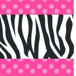 Bala Personalizada Fundo Zebra e Poá Rosa: