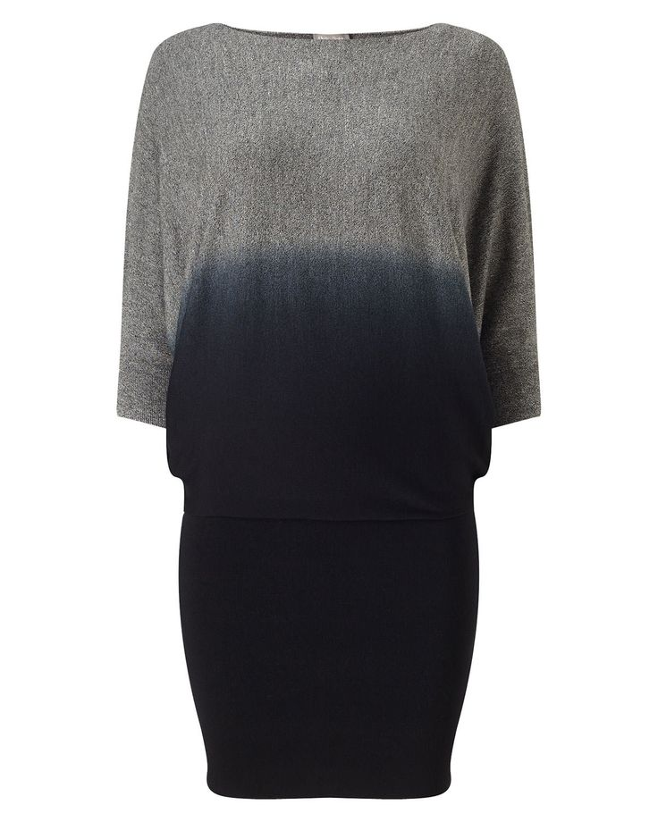Phase Eight Becca Dip Dye Batwing Dress Black                                                                                                                                                                                 More