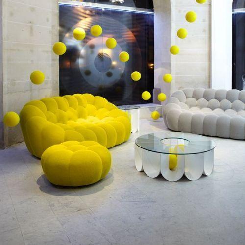 Les 25 meilleures id es concernant fauteuils d 39 appoint jaunes sur pinterest accents de salon - Canape colore ...