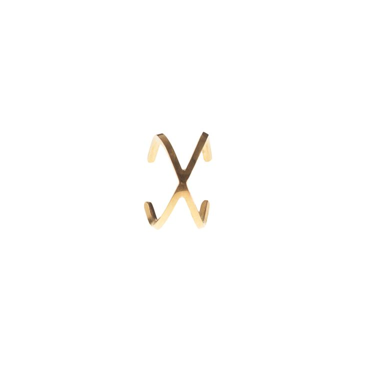 X-collection / earcuff / gold www.maleneglintborg.com