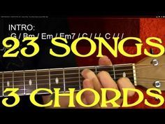 23 SUPER EASY Songs With Only THREE Easy Chords! - Guitar Lesson for Beginners by BobbyCrispy - YouTube