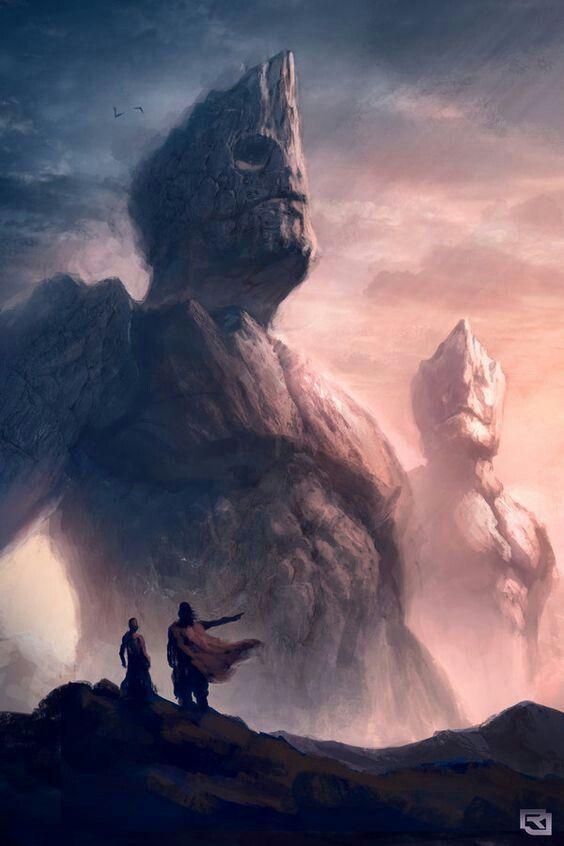 Gigantes de pedras vivem num continente gigante?