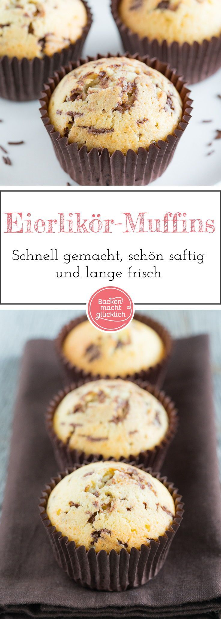 Photo of Eggnog muffins with chocolate