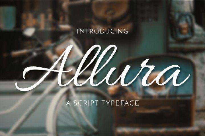 FREE Allura Script Font By TheHungryJPEG