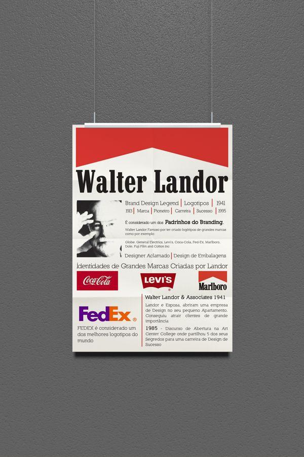 _WALTER LANDOR // Poster by Tiago Filipe Silva, via Behance