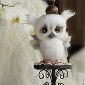 """Needle felted baby owl by Julia Yurkevich.  Куклы и игрушки ручной работы. Ярмарка Мастеров - ручная работа Совенок .Из серии """"В волшебном лесу..."""". Handmade."""