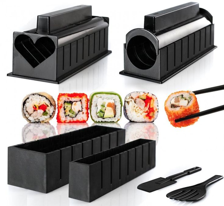 10 pieces/set DIY Sushi Maker Plastic Mold For Rice Mould Kits Kitchen Bento Accessories Tools