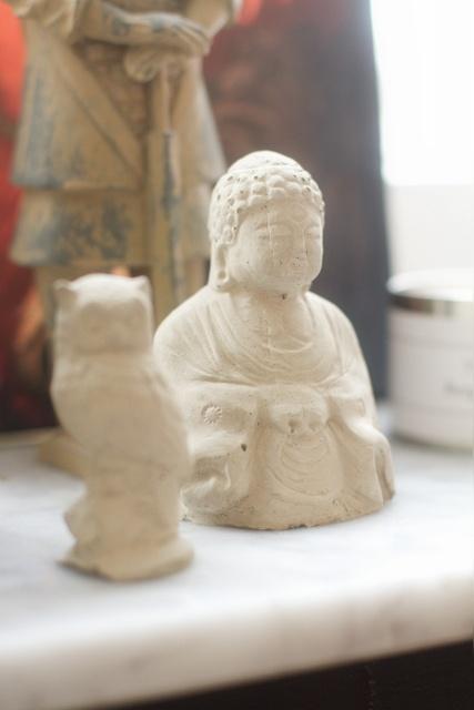 Homemade Buddha in concrete