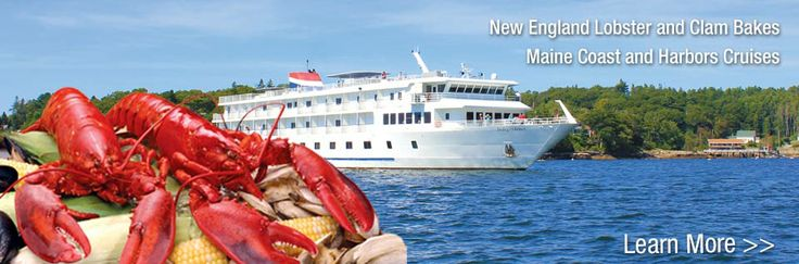 Enjoy New England lobster and clam bakes; American Cruise Lines.