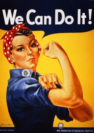 "Vintage Art - I think I will always love this one ... ""We Can Do It! (Rosie the Riverter)"" by J. Howard Miller"