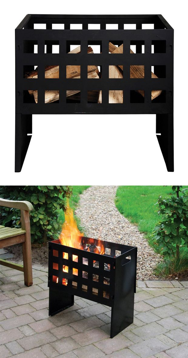 Stay warm during those cooler spring and fall nights with the help of this charming fire basket. Handsomely finished in black, this Elin Fire Basket will easily mesh with most styles of outdoor décor. ...  Find the Elin Fire Basket, as seen in the Cozy Cabin in Vermont Collection at http://dotandbo.com/collections/cozy-cabin-in-vermont?utm_source=pinterest&utm_medium=organic&db_sku=114178