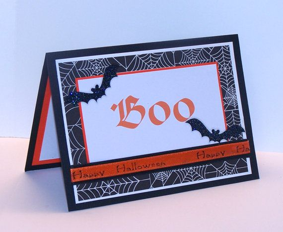 Halloween Card Boo   Handmade Halloween Card  by CardsbyRochelle, $5.50