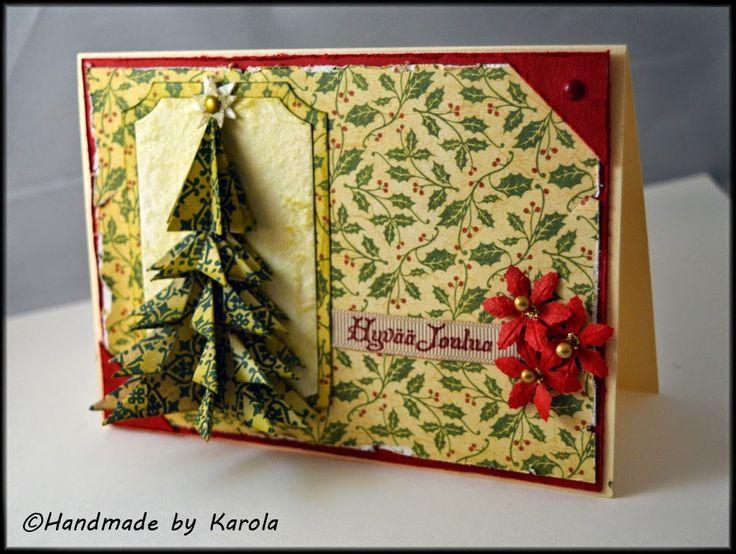 Origami Christmas card