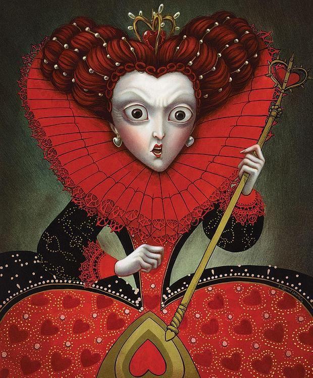 «La Reina de Corazones», según Benjamin Lacombe