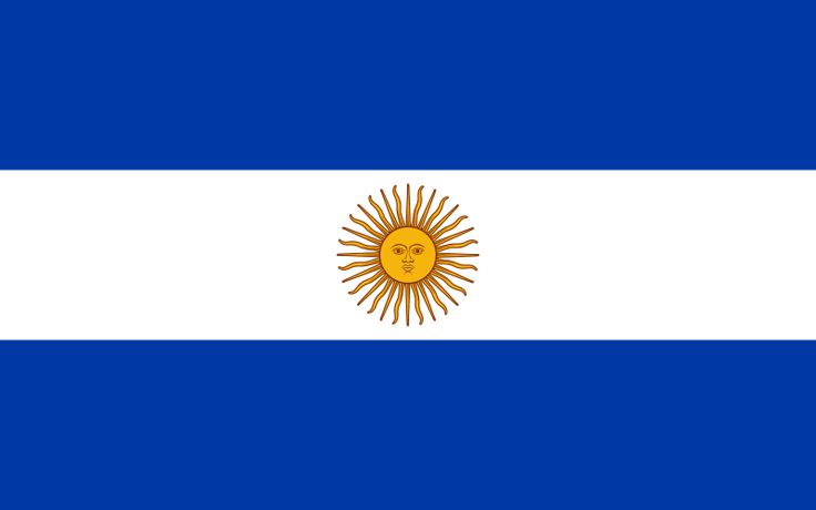 flag argentina | Description Flag of Argentina (1818).svg