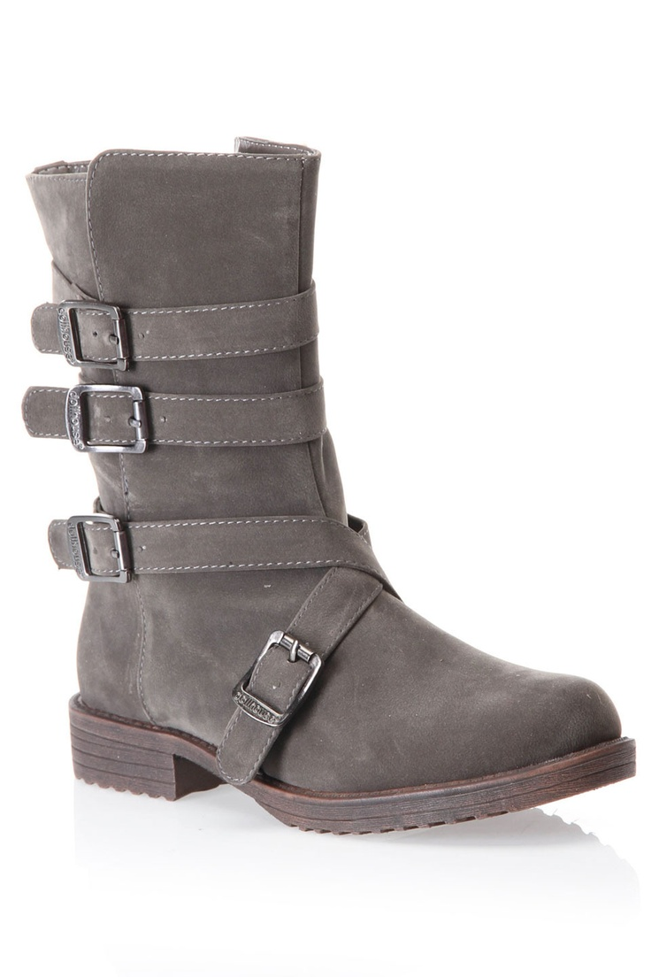 Dollhouse Proud Mid Shaft Moto Boot In Taupe - 29.99!!