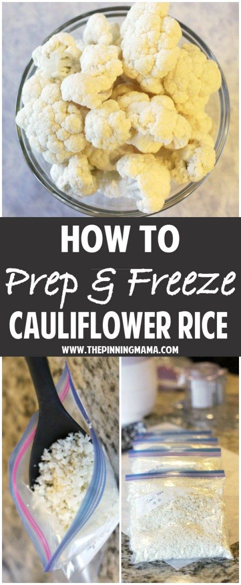 How to Prep & Freeze Cauliflower Rice