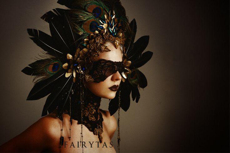 Hera headdress and matching neck corset by Jolien-Rosanne on deviantart