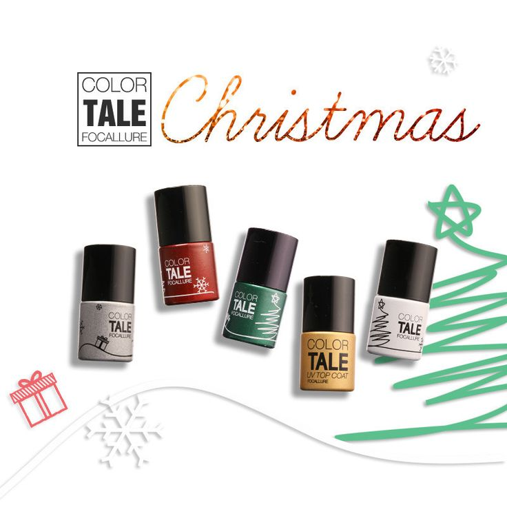 4 Colors UV Gel Nail Kit Polish Art Tools Sets Kits Nail Gel Nail Gel Kit Nail Gel Polish Christmas Set BY Focallure Tale