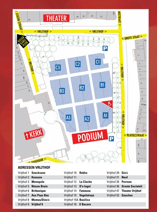 Vrijthof Square Restaurant Map http://www.thesoundofmaastricht.com/booking-a-terrace-seat-restaurant-in-vrijthof-square/