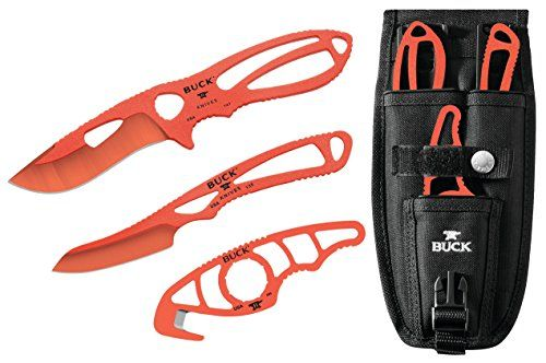 Buck Knives 141 PackLite Field Master Kit includes Skinner, Caper and Guthook Knives in Orange Traction Coating and Black Nylon Sheath  #guthookknife https://www.safetygearhq.com/product/personal-safety/pocket-knives/buck-knives-141-packlite-field-master-kit-includes-skinner-caper-and-guthook-knives-in-orange-traction-coating-and-black-nylon-sheath/