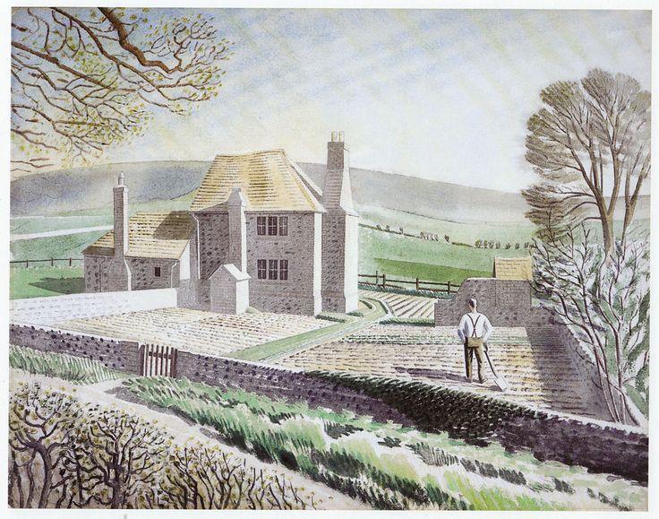 Shepherd's Cottage Firle Eric Ravilious  Jasmine & Reg Rose-innes The Ley cottage