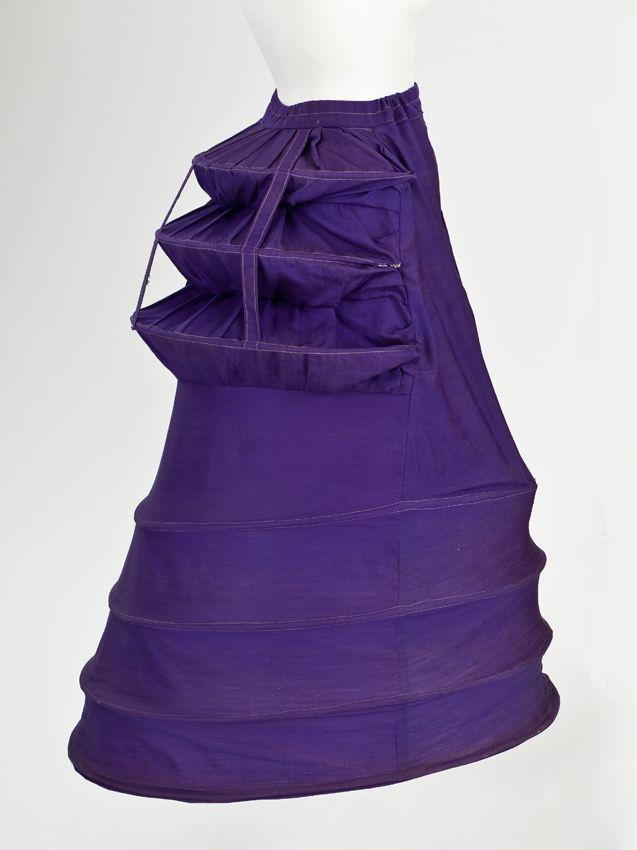 1872-1875 Cage Crinolette Petticoat.
