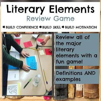 Have fun reviewing all of the major literary elements with your students using this Literary Elements Task Card Review Game.  Students match each element with its definition and an example from classic literature.  Make it a group game for added, hands-on fun!