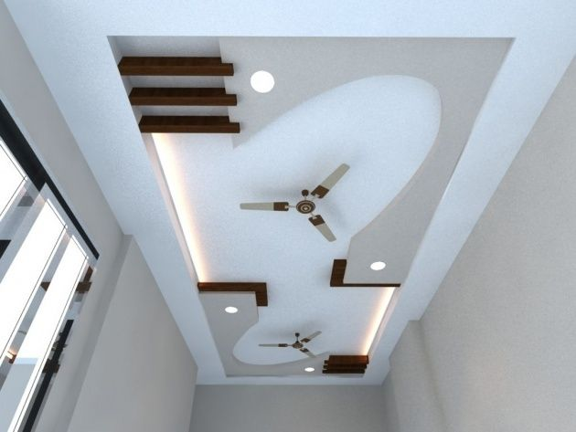 Picture Of Pop Design For Stairs Roof In 2020 Simple False | Pop Design For Stairs Roof | Attractive | Stylish | Pop Boundary | Popular | Creative
