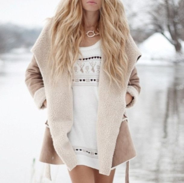coat missguided beige tan brown fairisle christmas blogger fur faux fur jacket faux fur coat furry faux fur shearling jacket camel jacket camel brown coat brown jacket waterfall waterfall jacket winter outfits winter coat winter jacket winter sweater fall outfits fall outfits fall outfits sweater dress jumper dress beige dress christmas sweater romwe blonde hair blonde girl ombre jacket