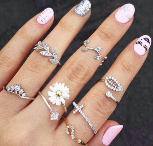 aneis prata inspirados na natureza