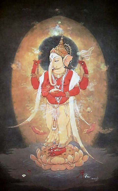 Lord Ganesha Artist: Ajoy Kumar Ghose (via Pinterest: kristie b)