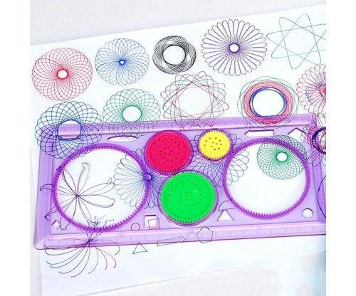 Spirográf: remek rajzos ajándék ötlet gyerekeknek, ha egy időre le akarjuk kötni őket.