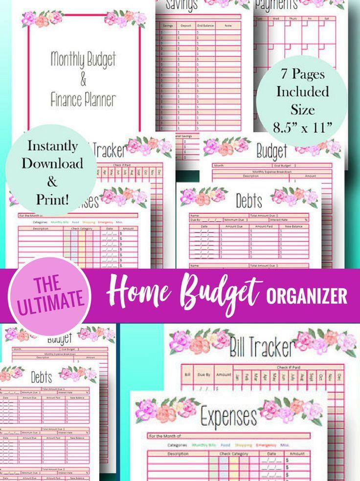 1444309b72b1 Printable home finance organization checklist | Home financial ...