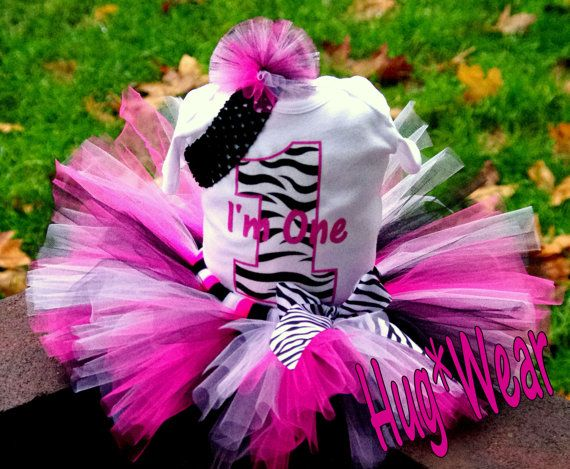 Custom Boutique Zebra Number 1 2 3 4 5 6 Birthday Tutu by HugWear, $39.95