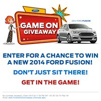 ENTER FOR YOUR CHANCE TO WIN A FORD FUSION IN THE FORD GAME ON GIVEAWAY!