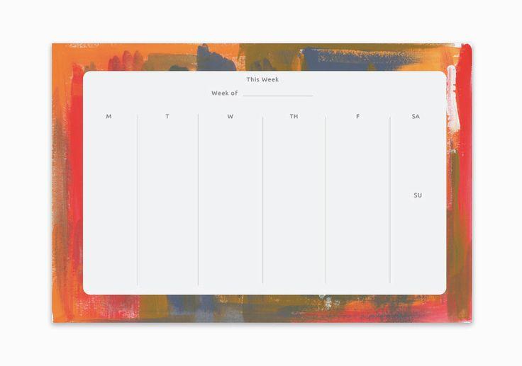 Agenda settimanale, pianificatore quotidiano, piccolo Planner, Planner Notepad, sottomano, reception Planner, Download Notepad, settimanale Planner Pad, organizzazione di escursioni di PenandPillar su Etsy https://www.etsy.com/it/listing/491570315/agenda-settimanale-pianificatore