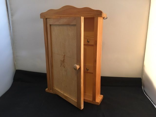 Wood Key Cabinet with Door in Home & Garden, Furniture, Cabinets & Cupboards | eBay!
