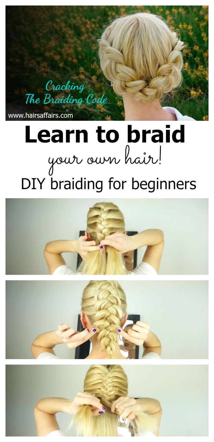 Learn to braid your own hair with this mini video course for FREE - easy to follow instructions http://hairsaff.co/DIYbraiding-for-beginners