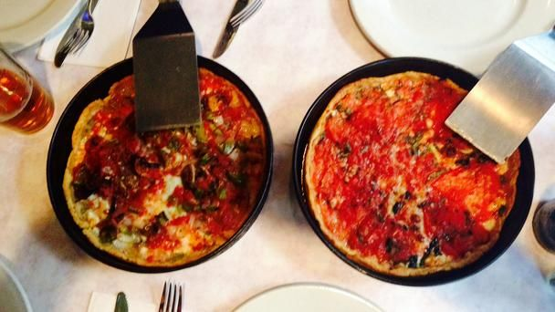 The Deep Rooted History of Chicago's Deep-Dish Pizza: To appreciate the story of deep-dish, you must first look back to the Phoenicians, the Greeks and the Romans. Flatbread, the ancestor to the contemporary pizza, was first documented in a Latin text from 997 AD, in southern Italy near Lazio, with subsequent references noted throughout the Mediterranean, from Spain to Greece.