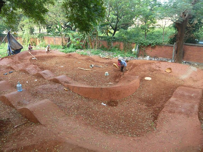 about backyard pumptrack on pinterest gardens posts and track