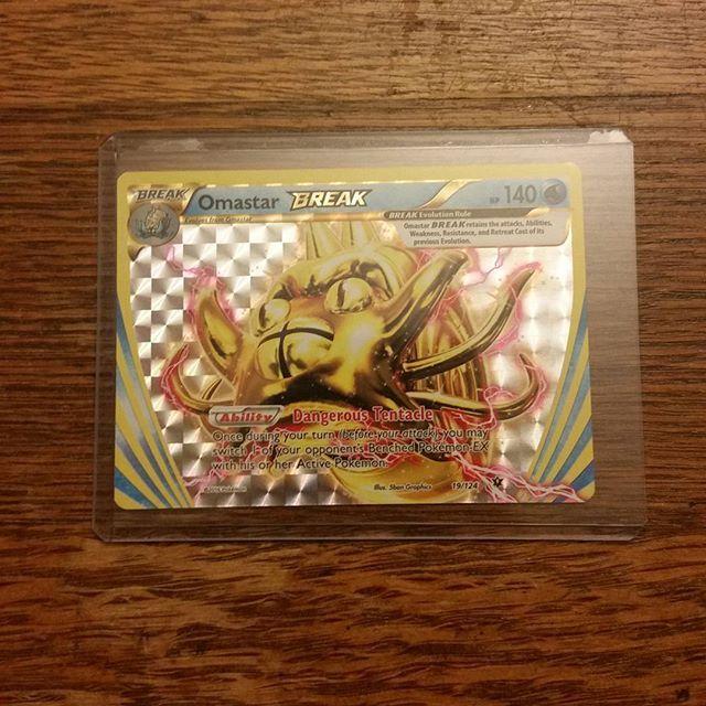 Omastar BREAK for sale! DM me #pokemon #pokemoncards #pokemoncommunity #pokemoncard #selling #seller #trusted #card #cards #break #holo #holographic #omastar #pikachu #nintendo