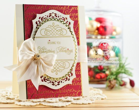 551 best spellbinder made cards and things images on for Elegant christmas card ideas