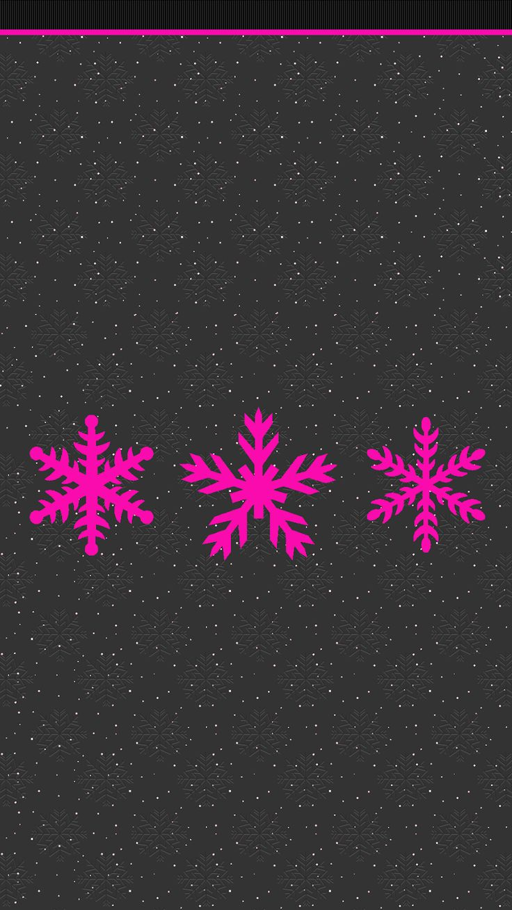 black and pink snowflakes