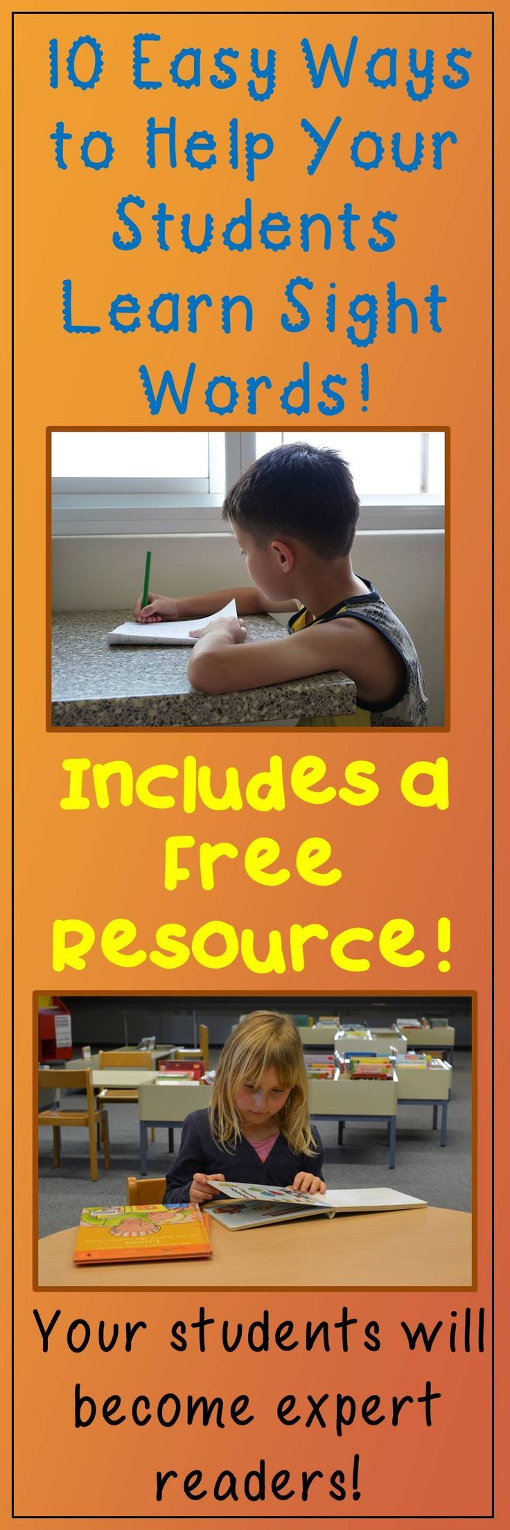 Find out how to teach sight words in this blog post. It includes a free PowerPoint to help students learn their words!